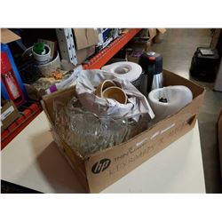 Box of blender, caraffe, punch bowl set