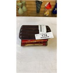 CIGAR POUCH AND 2 TOBACCO TINS - VELVET AND PRINCE ALBERT