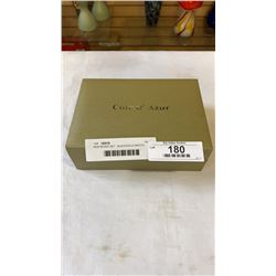 NEW BOXED SET - BLACK/GOLD WATCH, DIAMANTE BRACELET, AND NECKLACE BY COTE D'AZUR