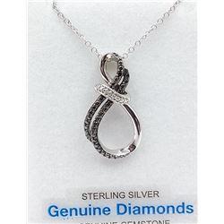 STERLING SILVER DIAMOND PENDANT W/ CHAIN W/ APPRAISAL $1065 - 31 DIAMONDS (0.11CTS)