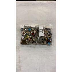 2 BAGS OF JEWELLERY - NECKLACES, RINGS, PENDANTS, EARINGS, ETC