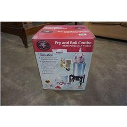 BACKYARD CLASSICS FRY AND BOIL COMBO MULTI PURPOSE LP COOKER - NEW IN BOX