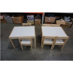 2 KIDS TABLES AND 6 CHAIRS