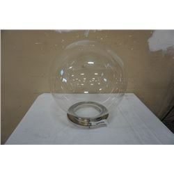LARGE GLASS DOME 17 INCH TALL