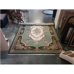 GREEN AREA CARPET APPROX 6 FOOT