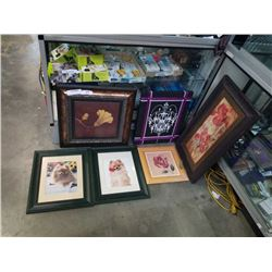 Lot of flower and dog prints
