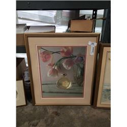 """LEP 12/275 """"early sun signed Brian Travers Smith and flower print"""