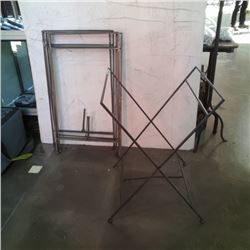 4 folding metal luggage stands