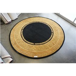HAND MADE IN INDIA 100% WOOL AREA CARPET 7FT DIAMETER - RETAIL $1764