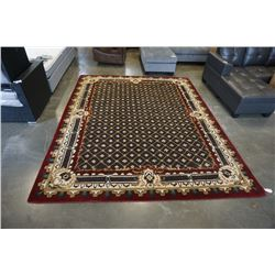 HAND MADE IN INDIA 100% WOOL 10FT 1IN X 8FT 1IN TUFTED COFFEE COLOURED AREA RUG - RETAIL  $2420