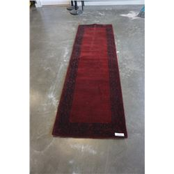 HAND MADE IN INDIA 100% WOOL CARPET RUNNER 2FT 7IN X 8FT 2IN  - RETAIL $632