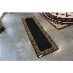 HAND MADE IN INDIA 100% WOOL CARPET RUNNER 2FT 7IN X 8FT  - RETAIL $620, SOME DAMAGE