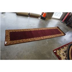 HAND MADE IN INDIA 100% WOOL CARPET RUNNER 2FT 6IN X 9FT 11IN - RETAIL $743