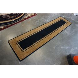 HAND MADE IN INDIA 100% WOOL CARPET RUNNER 2FT 7IN X 9FT 11IN - RETAIL $896