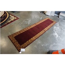 HAND MADE IN INDIA 100% WOOL CARPET RUNNER 2FT 7IN X 10FT 1IN - RETAIL $781