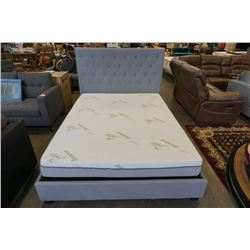 BRAND NEW LOGAN BED SET - INCLUDES STORAGE BED FRAME AND BRAND NEW 8 INCH QUEEN MEMORY FOAM MATTRESS