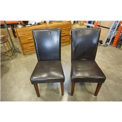 2 MODERN LEATHER LOOK CHAIRS
