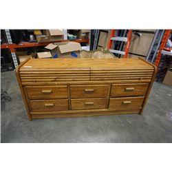 8 Drawer oak dresser