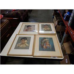 4 signed native signed oxborough artwork