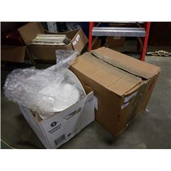 2 BOXES OF WHITE DISHES