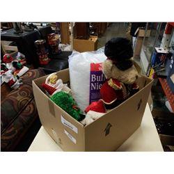 BOX OF CHRISTMAS DECOR - ANIMATED FIGURES