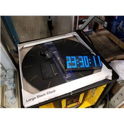 LED digital clock, large black clock and power banks
