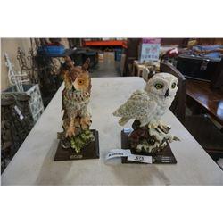 TWO E FARINA OWL FIGURES