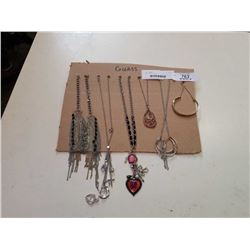 TRAY OF NECKLACES