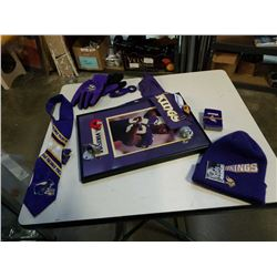 LOT OF VIKINGS NFL COLLECTABLES