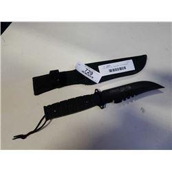 COLUMBIA FULL TANG ANTI SLIP HANDLE KNIFE W/ SHEATH