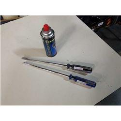 "2 novelty 16"" screwdriver butane BBQ lighters with butane can"