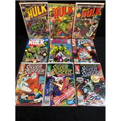 ASSORTED HULK/ SILVER SURFER COMIC BOOK LOT (MARVEL COMICS)