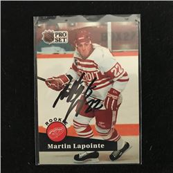 MARTIN LaPOINTE SIGNED NHL PRO SET HOCKEY CARD