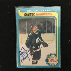 REAL CLOUTIER SIGNED HOCKEY CARD