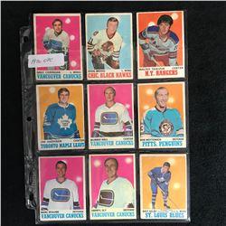 1970 OPC HOCKEY CARD LOT