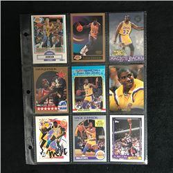 MAGIC JOHNSON BASKETBALL CARD LOT