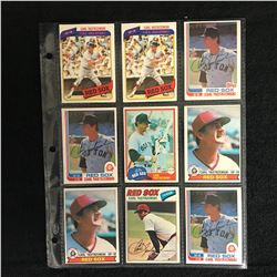 CARL YASTRZEMSKI BASEBALL CARD LOT
