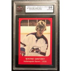 1990-91 NATIONAL SPORTS CARDS #1 WAYNE GRETZKY Indianapolis Racers (10 GEM MINT)