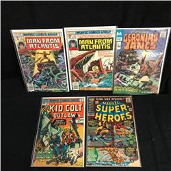 ASSORTED COMIC BOOK LOT (MAN FROM ATLANTIS, KID COLT OUTLAW...)
