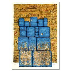 """Moshe Castel, """"Hakotel"""" Limited Edition Gold Embossed Serigraph with Letter of Authenticity."""