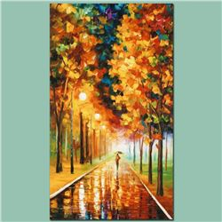 """Leonid Afremov (1955-2019) """"Light of Autumn"""" Limited Edition Giclee on Canvas, Numbered and Signed."""