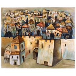 """Gregory Kohelet- Original Serigraph """"Jerusalem"""""""