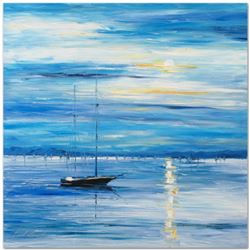 """Leonid Afremov (1955-2019) """"Far from Shore"""" Limited Edition Giclee on Canvas, Numbered and Signed. T"""