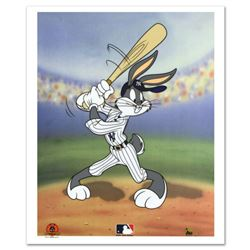 """Bugs Bunny at Bat for the Yankees"" Limited Edition Sericel from Warner Bros., with the MLB Logo. In"