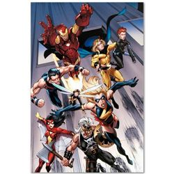 "Marvel Comics ""The Mighty Avengers #7"" Numbered Limited Edition Giclee on Canvas by Mark Bagley with"