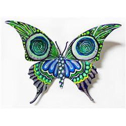 "Patricia Govezensky- Original Painting on Cutout Steel ""Butterfly CCLIII"""