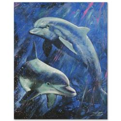 """Life Aquatic"" Limited Edition Giclee on Canvas by Stephen Fishwick, Numbered and Signed. This piece"
