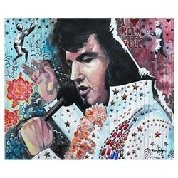 "Nastya Rovenskaya- Original Oil on Canvas ""Elvis Show"""