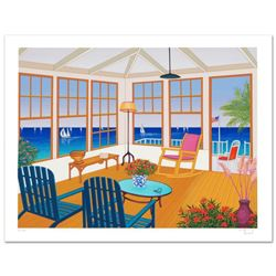 """New England Villa"" Limited Edition Serigraph by Fanch Ledan, Numbered and Hand Signed with Certific"
