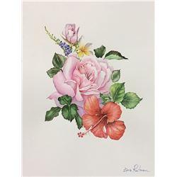 "Zina Roitman- Original Watercolor ""Bouquet"""